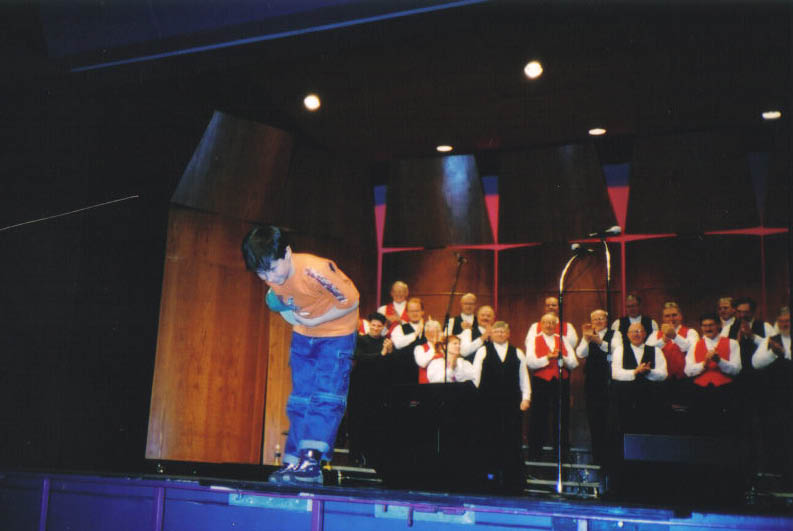 2003 - Curtain call for Nathan Shami - Apr. 5 2003.jpg