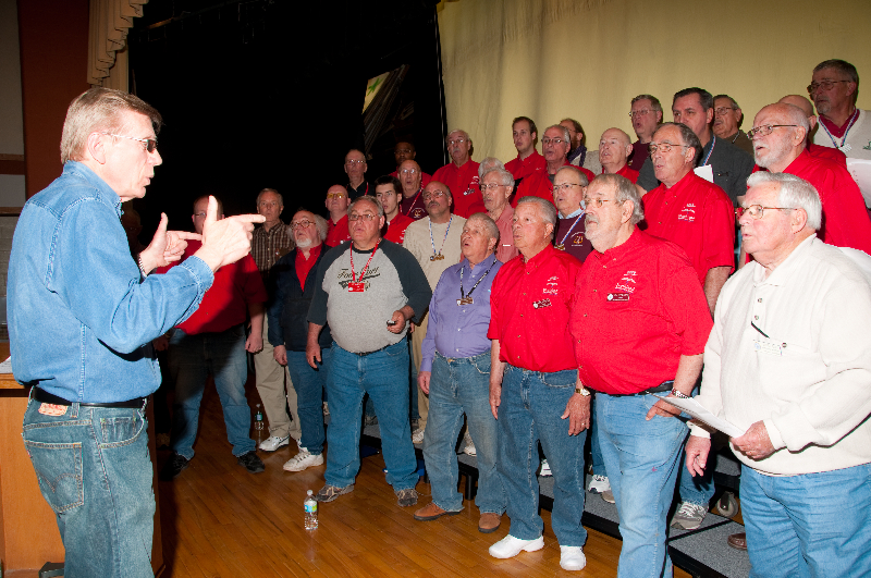 2010 - Joint rehearsal in St. Ignace with Alpena and Gaylord Chapters Ted Johnson directing - May 8 2010.jpg