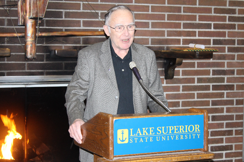 2014 - Ladies Night-Bernie Arbic and LSSU History-Feb 8 2014.JPG