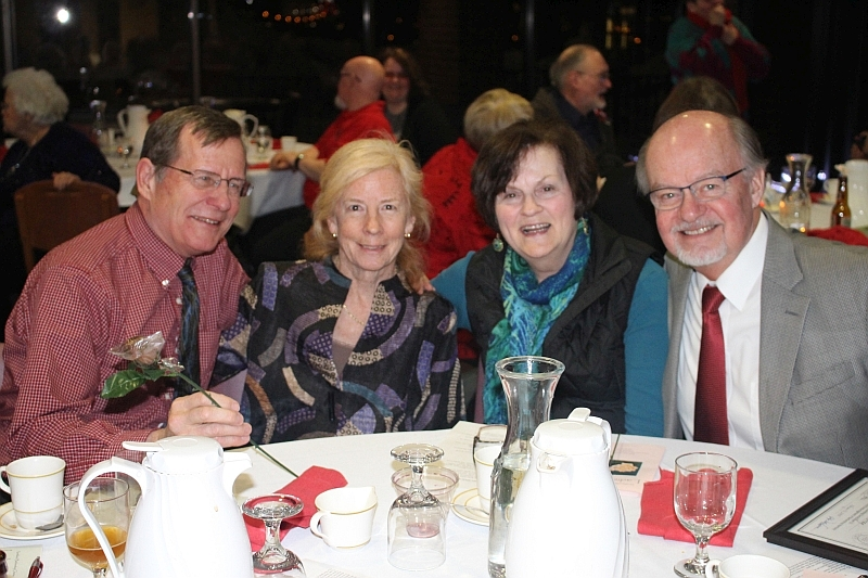 2016 Ladies Night 22 - Ginny and Ed Johnson - Halina and Al Murray - Feb. 13 2016.JPG