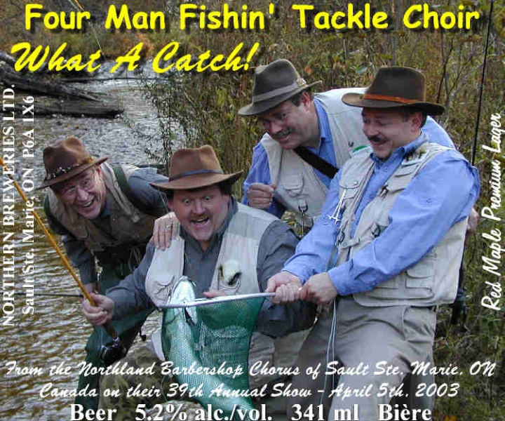 2003 - Four Man Fishing Tackle Choir Beer Label.jpg