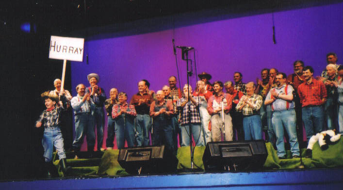 2002 - As The World Churns N. Shami curtain call - Apr. 6 2002.jpg
