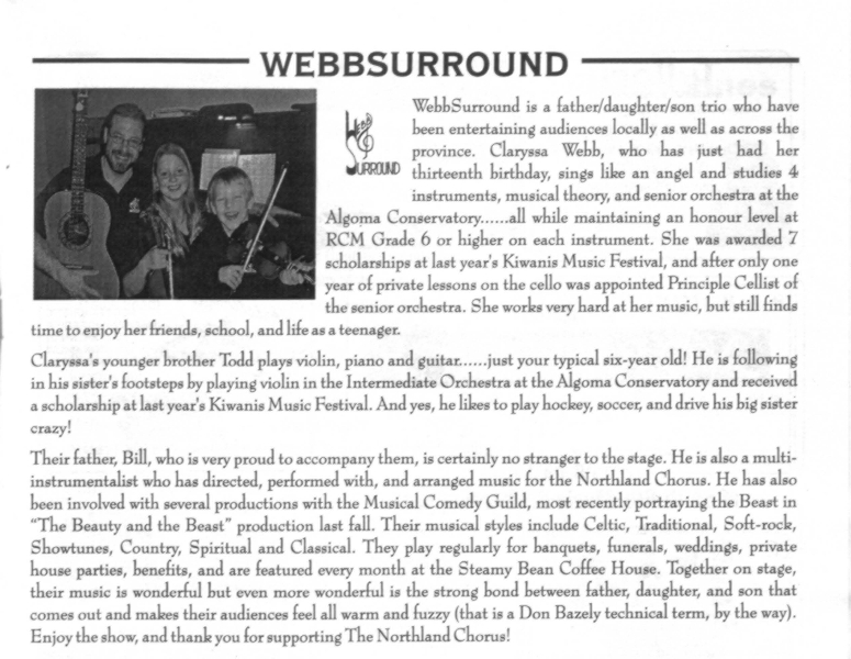 2006 - WebbSurround Program Photo.jpg