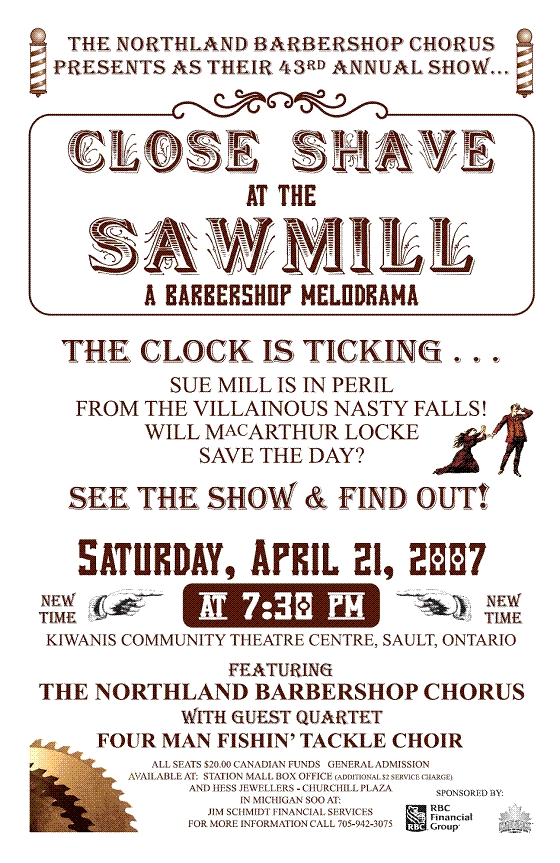 2007 Poster - Close Shave at the Sawmill.jpg