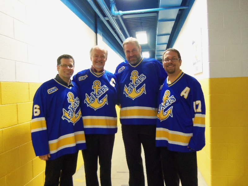 2012 - Foreign Accord  perform anthem at Lake Superior State Lakers game - Feb.18 2012.JPG