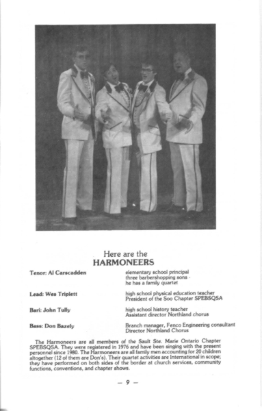 1985 - Harmoneers Program Photo.jpg